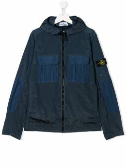 Stone Island Junior TEEN logo patch jacket MO721640235