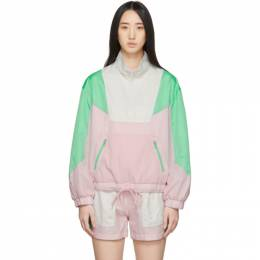 Sjyp Pink and Green Colorblock Windbreaker Jacket PW2A1WJM010W