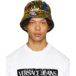 Versace Jeans Couture Multicolor Tropical Jungle Baroque Bucket Hat EE8GVAK10 ES0652