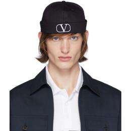 Valentino Black Valentino Garavani VLogo Beanie TY2HBA00XPZ