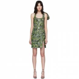 Halpern SSENSE Exclusive Green Bustier Dress S20D10.4