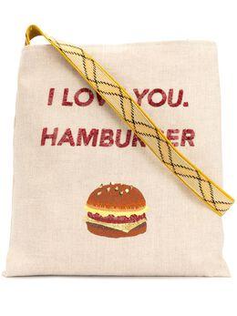 Tu Es Mon Tresor сумка-тоут с принтом Hamburger 20PSBAG301HB