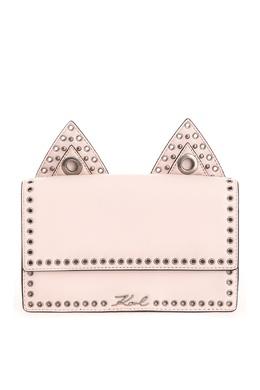 Розовая сумка с заклепками Karl Lagerfeld 682183193