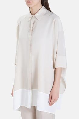 Блуза свободного кроя с белой вставкой Agnona 2540183376