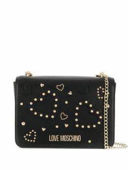 Love Moschino studded heart crossbody bag JC4031PP1ALE0