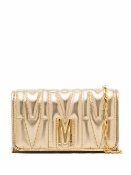 Moschino quilted leather clutch bag A81098011