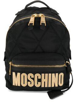 Moschino стеганый рюкзак с вышитым логотипом B76048205
