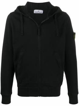 Stone Island compass badge zip-up hoodie MO721564860