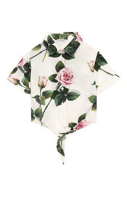 Хлопковая блузка Dolce&Gabbana L54S05/HS5GG/8-14
