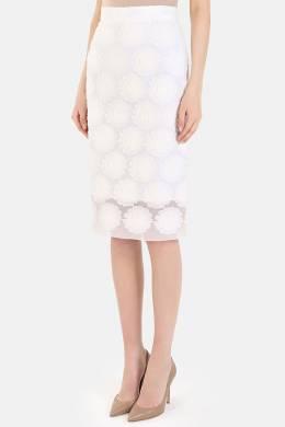 Белая юбка-карандаш с цветочными узорами Ermanno Scervino 1328183735
