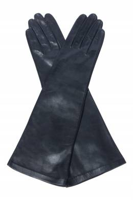Черные кожаные перчатки Sermoneta Gloves 2352183682