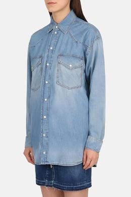 Голубая джинсовая рубашка Faith Connexion 2027183742