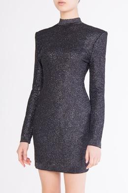 Серое платье с вырезом на спине Balmain 88183704