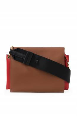 Трехцветная кожаная сумка Marni 294183760