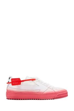 Розово-белые кеды Vulcanized Off-White 2202182801