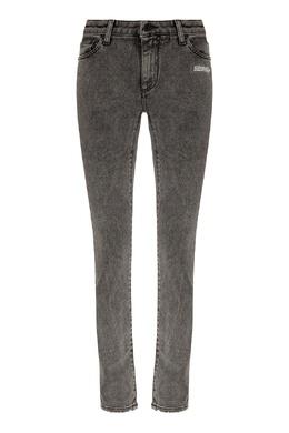 Серые джинсы скинни с надписями Off-White 2202182792
