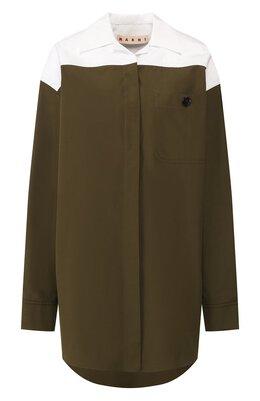 Хлопковая рубашка Marni CAMA0272Q0/TCW64