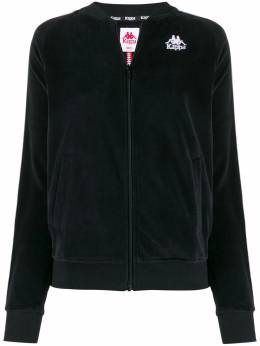 Kappa куртка-бомбер с контрастным логотипом 303VGU0NERO916
