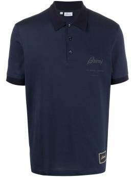 Brioni logo-print short-sleeved polo shirt UJCN0LP9645