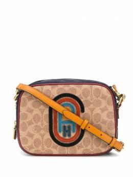 Coach каркасная сумка с нашивкой-логотипом 79257