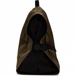 132 5. Issey Miyake Tan and Black Obi Backpack IL06AG205