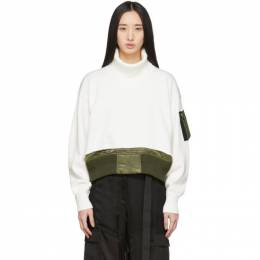 Sacai Off-White Knit Crop Sweater 20-04859