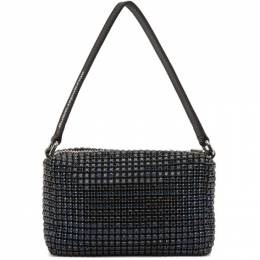 Alexander Wang Navy Medium Rhinestone Top Handle Bag 20C120Y259