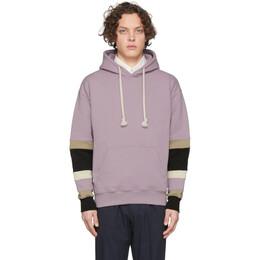J.W. Anderson Pink Colorblock Sleeves Logo Hoodie JE0036-PG0179