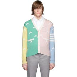 Thom Browne Multicolor Dolphin Half Drop Cardigan MKC257F-00011