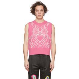 Charles Jeffrey Loverboy Pink Pict Vest CJLSS20PV