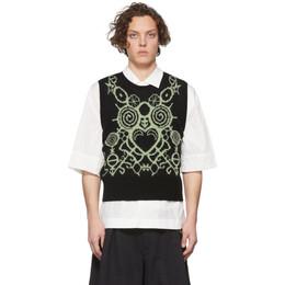 Charles Jeffrey Loverboy Black Pict Vest CJLSS20PV