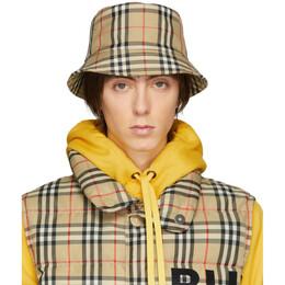 Burberry Beige Vintage Check Bucket Hat 8021508
