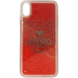 Kenzo Red Glitter Tiger Head iPhone X/XS Case FA5COKIFXTLI