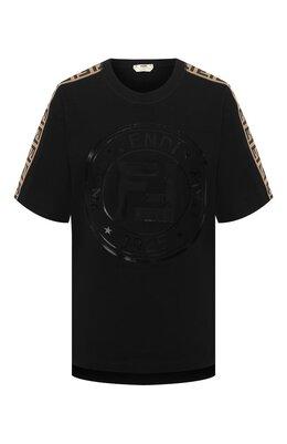 Хлопковая футболка Fendi FAF073 AB4E