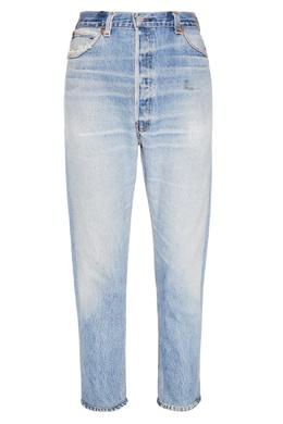 Голубые джинсы с заломами Re/Done 178172412