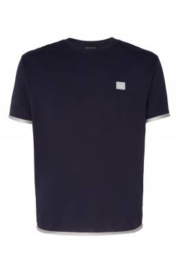 Темно-синяя футболка с контрастной отделкой Acne Studios 876109075
