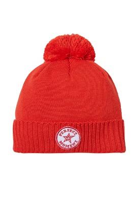 Красная шапка с помпоном и нашивкой Perfect Moment 2581104372