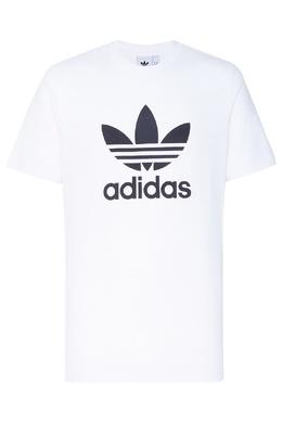 Белая футболка с логотипом-трилистником Adidas 819111317