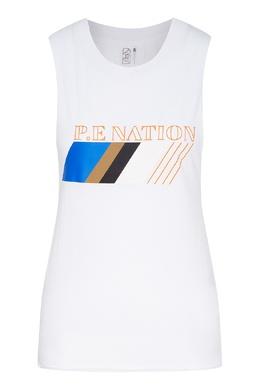 Белая хлопковая майка с принтом P.E Nation 2080114109