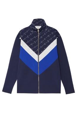 Куртка-олимпийка с шевронами и монограммами Stella McCartney 193106813