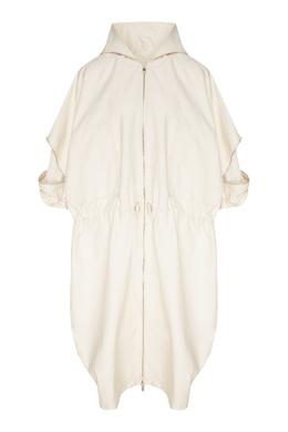 Белая куртка с капюшоном Stella McCartney 193126013