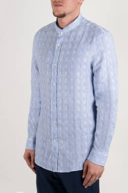 Рубашка с воротником-стойкой Brunello Cucinelli 1675183979