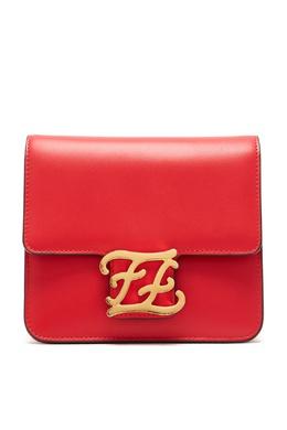 Красная сумка из змеиной кожи Karligraphy Fendi 1632180904