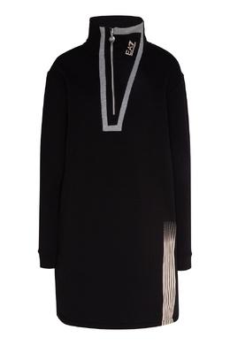 Черное платье с отделкой Emporio Armani 2706183997