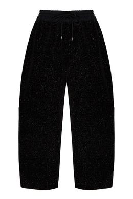Укороченные черные брюки с люрексом Emporio Armani 2706184003