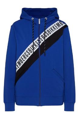 Синяя толстовка с капюшоном Bikkembergs 1487183415