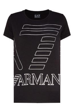 Черная трикотажная футболка Emporio Armani 2706183930