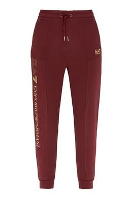 Бордовые спортивные брюки Emporio Armani 2706184010