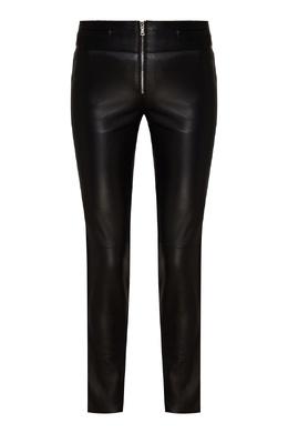 Черные кожаные брюки Emporio Armani 2706184014