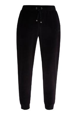 Черные спортивные брюки из бархата Emporio Armani 2706184006
